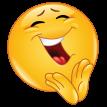 cheerful emoticon clapping sticker