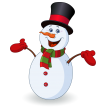 cheerful snowman sticker