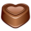 chocolate heart sticker