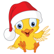 christmas chick sticker