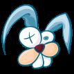crazy blue bunny sticker