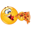 eating pizza sticker