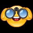 emoticon looking through binoculars sticker