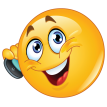 emoticon talking on cell phone sticker