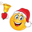 Emoticon With Santa Hat