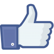 facebook like sticker