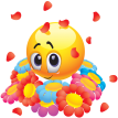 flowers emoticon sticker