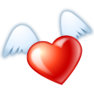 flying heart sticker