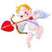 gorgeous cupid sticker