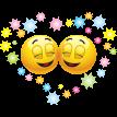 happy couple sticker