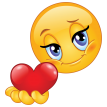 emoticon giving heart sticker
