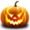 jack-o'-lantern sticker