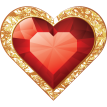 jewelry heart sticker