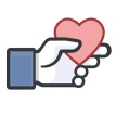 like with heart sticker