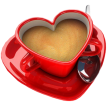 love coffee cup sticker