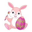 Easter Pink bunny with Easter egg