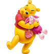 pooh and piglet sticker