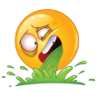 puke emoticon sticker
