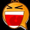 shouting emoticon sticker