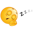 sleeping smiley sticker