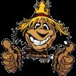 smiling scarecrow sticker