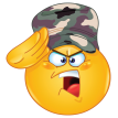 soldier emoticon sticker