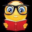nerd emoticon sticker
