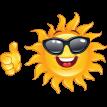 sunny emoticon sticker