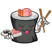 sushi with chop sticks sticker