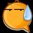sweat emoticon sticker