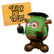 trick or treat monster sticker