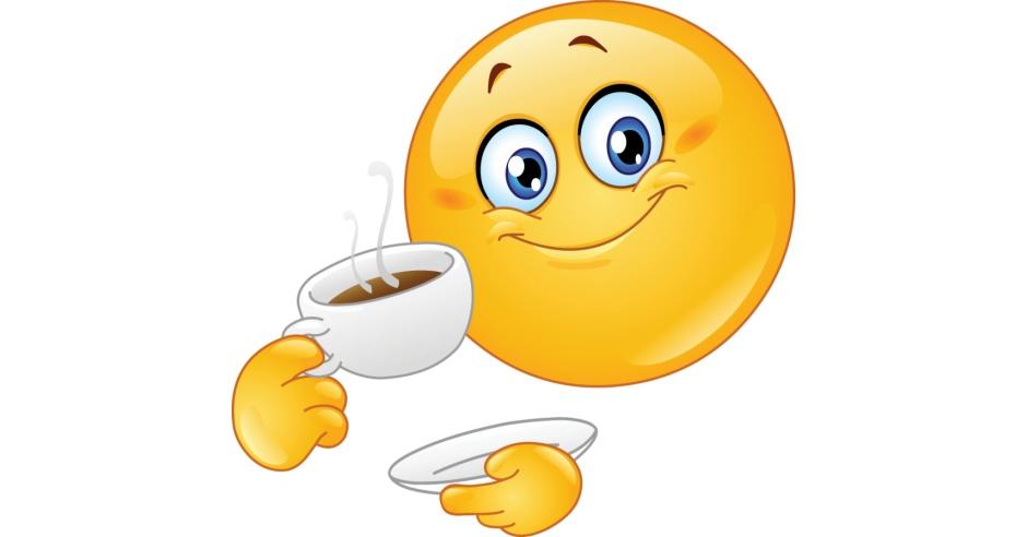 Smileys Smiley Faces And Emoticon: Emoticon Drinking Coffee