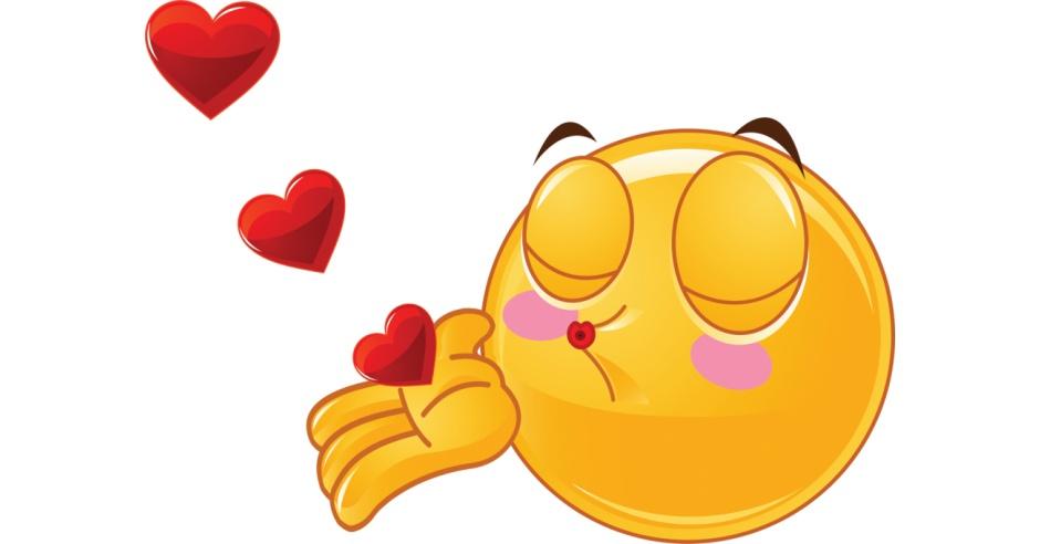 Valentine Smiley Sending Kisses